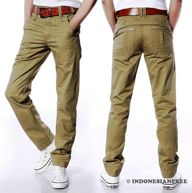 Celana panjang casual pria