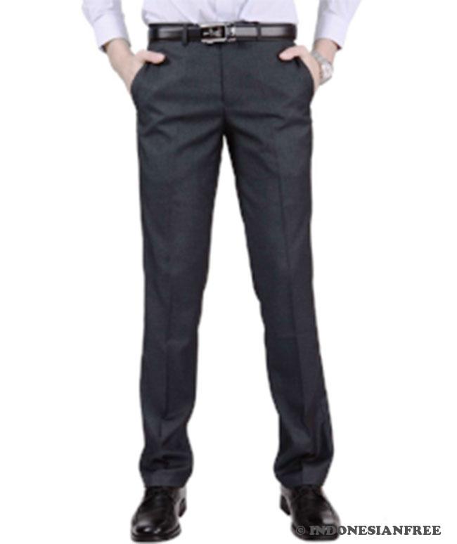 Model celana panjang pria slim fit 1