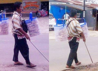 orang buta penjual kerupuk