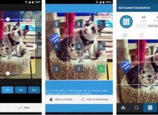 cara membuat foto puzzle instagram
