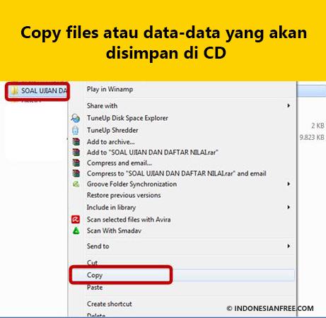 cara memindahkan file ke cd rw