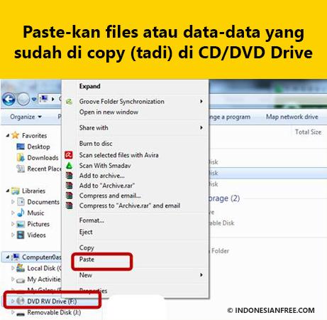 cara menghapus file di cd tanpa software