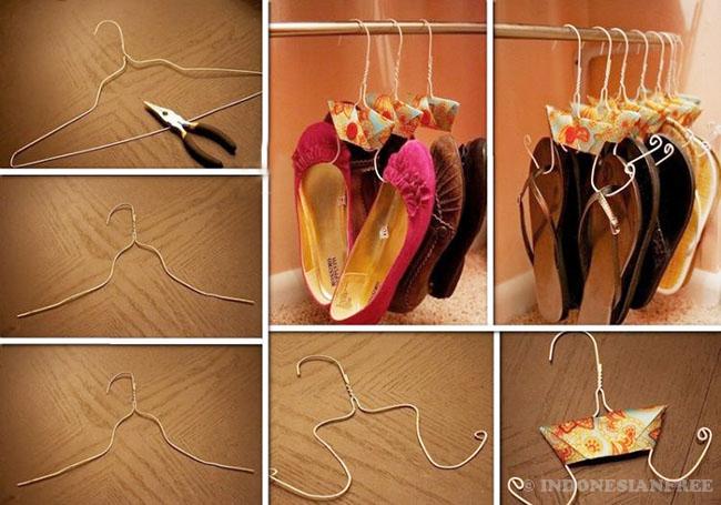 cara mendekorasi kamar dengan barang bekas Gantungan Baju