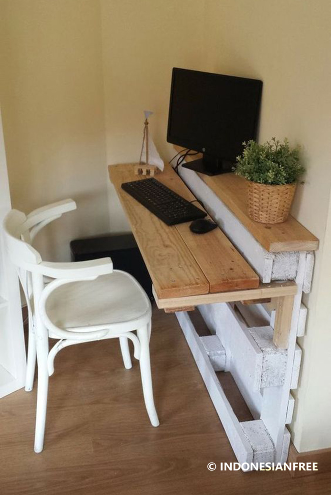 Meja Belajar cara membuat meja dari kayu palet