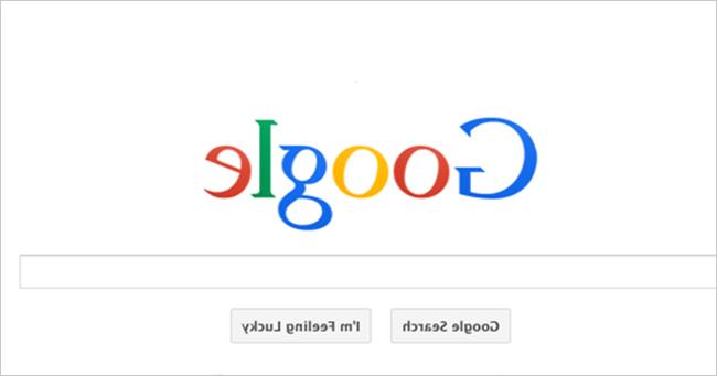Membuat Tampilan Google Terbalik