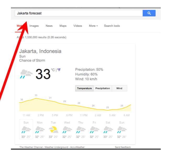 Mengetahui Cuaca Dunia