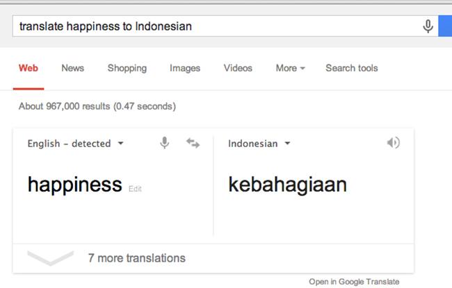Translate kata-kata ke dalam bahasa lain