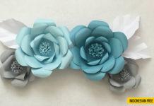cara membuat bunga kertas krep