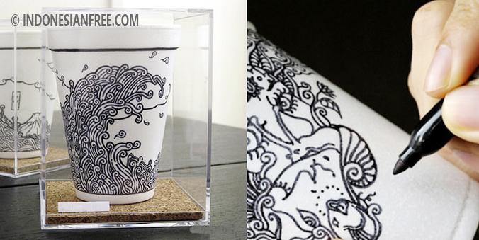 cara membuat hiasan dari styrofoam