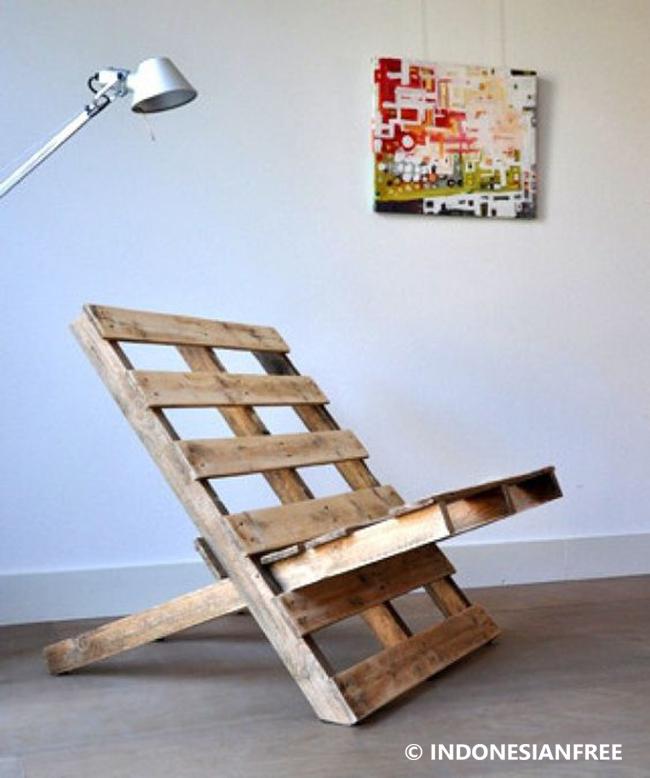 cara membuat kursi dari kayu palet