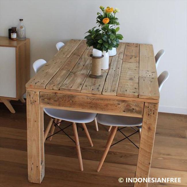 cara membuat meja dari kayu palet Bergaya Rustic