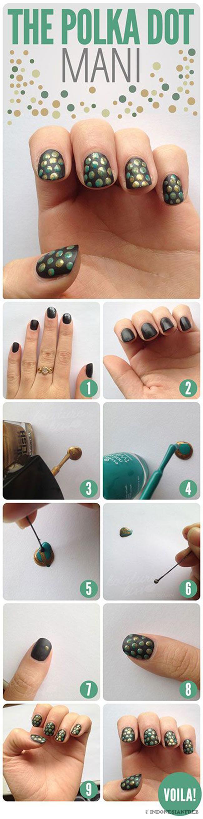 cara membuat nail art marble