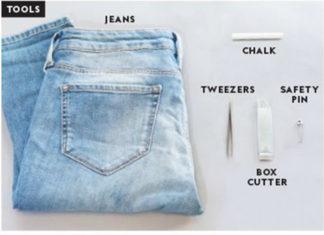cara memanfaatkan celana jeans yang tidak terpakai