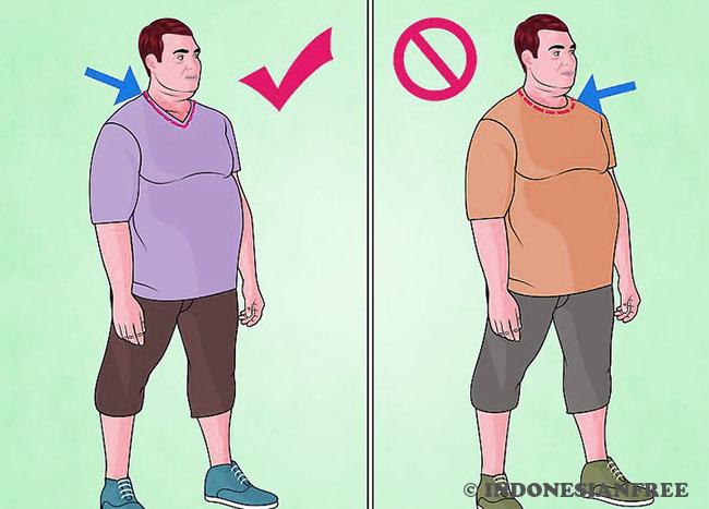 cara memilih koas untuk pria gemuk