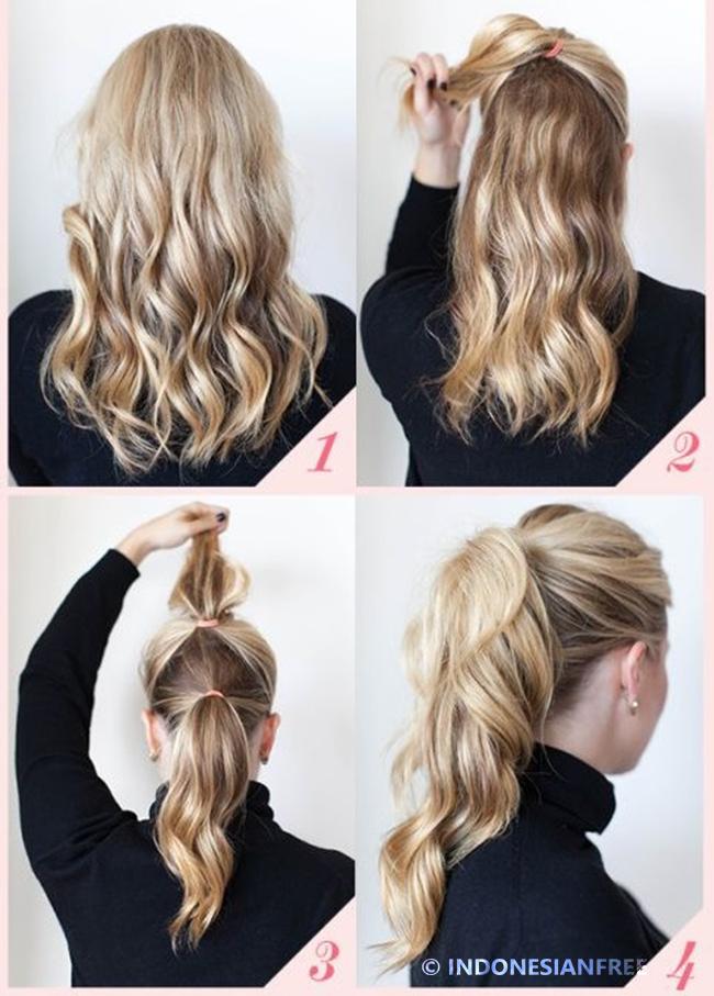 cara menata rambut simple dan elegan