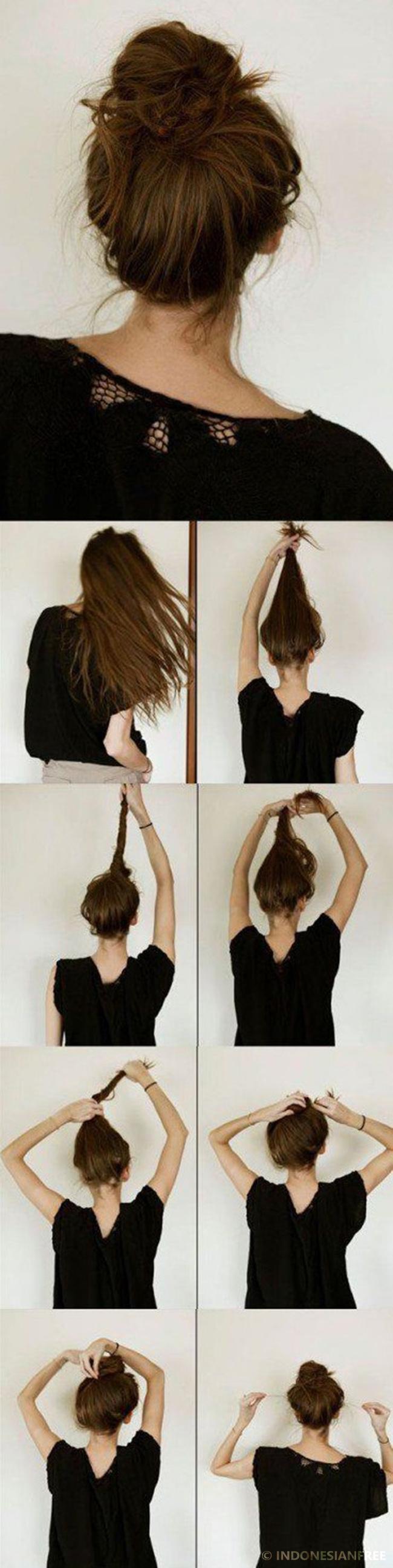 cara mengikat rambut yang cantik dan mudah