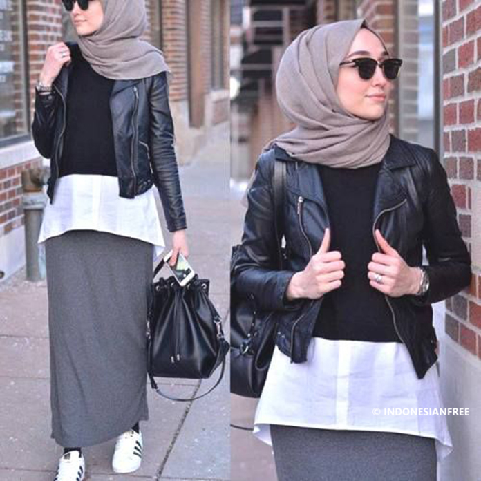 mix and match baju hijab casual