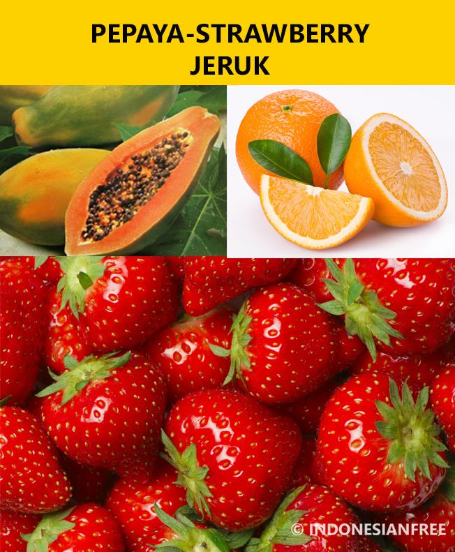 pepaya straberry jeruk buah penurun kolesterol dengan cepat