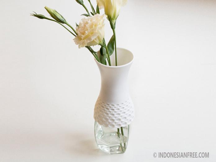 vas bunga dari botol kaca