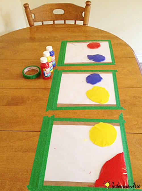 Finger Painting cara membuat mainan anak edukatif