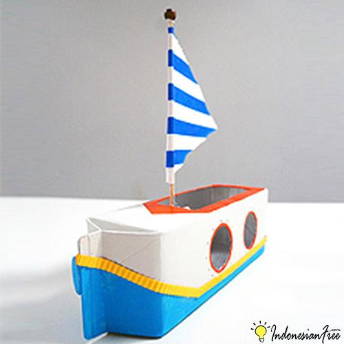 Perahu Dari Kotak Susu cara membuat mainan anak edukatif
