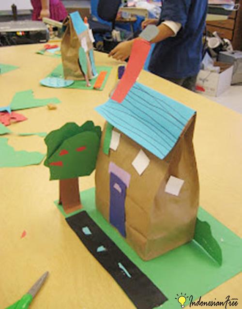 Rumah Kertas cara membuat mainan anak edukatif