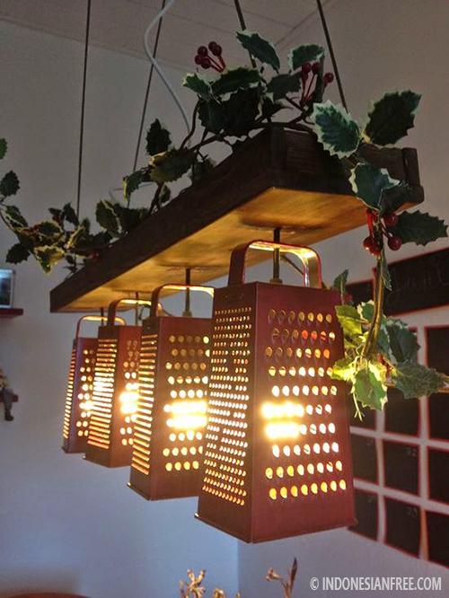 lampu gantung dari barang bekas