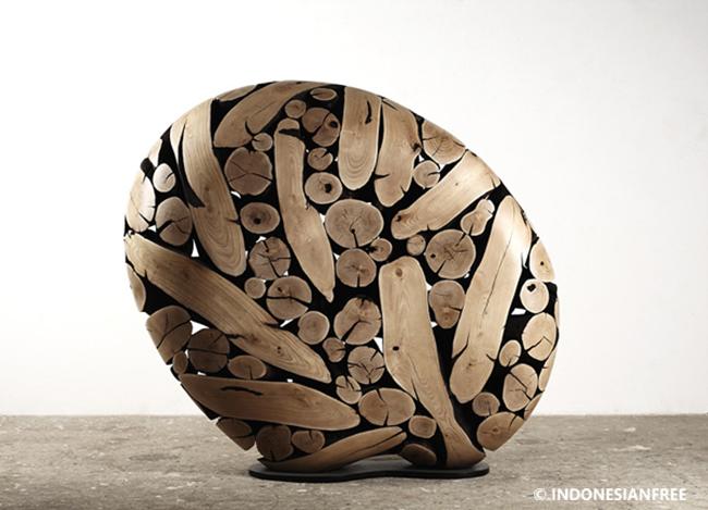 ide kreatif dari kayu bekas