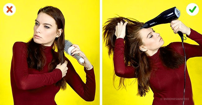 cara membuat rambut mengembang dan tebal