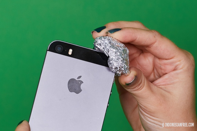 cara menggunakan alumunium foil
