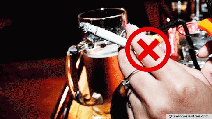 Hindari Rokok Atau Alkohol