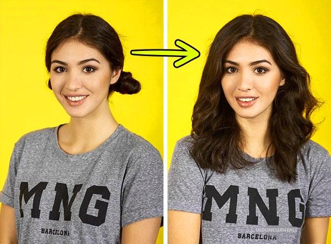 cara membuat rambut bervolume secara alami