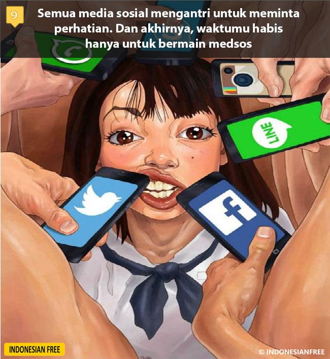 ilustrasi kehidupan modern