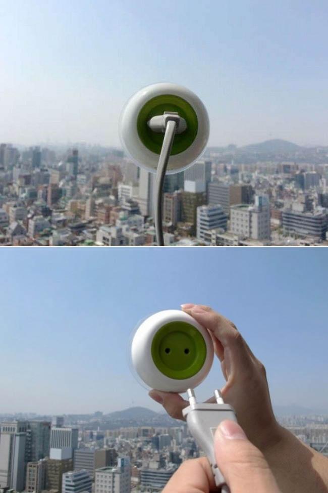 Charger portabel menggunakan tenaga matahari