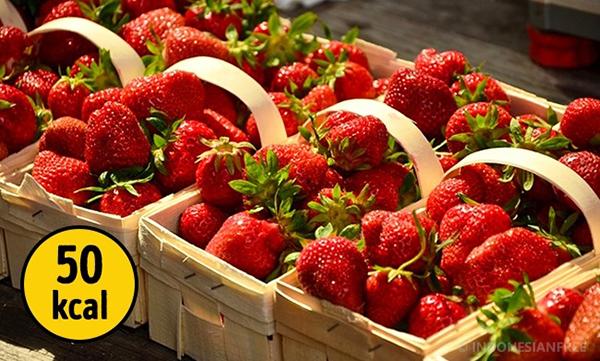 Stroberi menu makanan diet sehat menurunkan berat badan