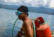 nyelam menggunakan tabung gas