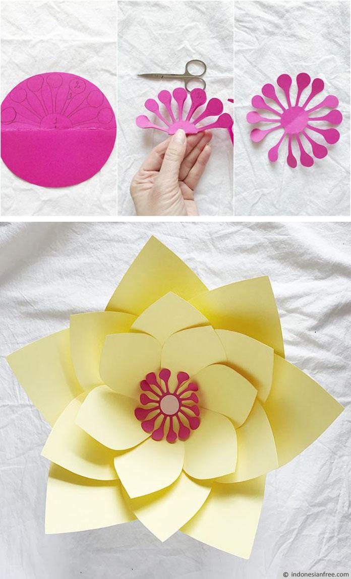Cara membuat bunga raksasa