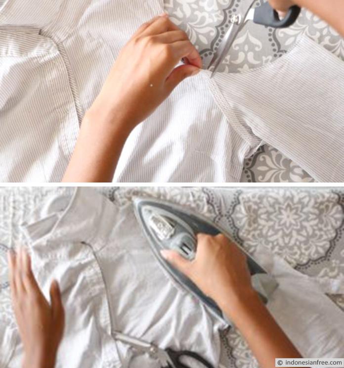 kreasi baju wanita dari kemeja pria