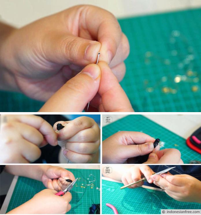 cara membuat tassel dari benang wol