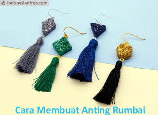 cara membuat anting rumbai