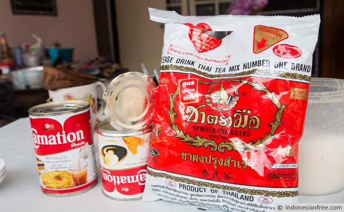 cara membuat dum dum thai tea