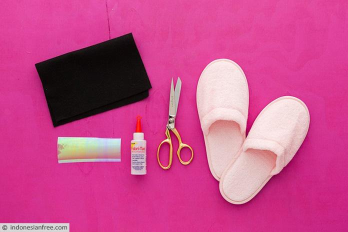 cara membuat sandal flanel lucu