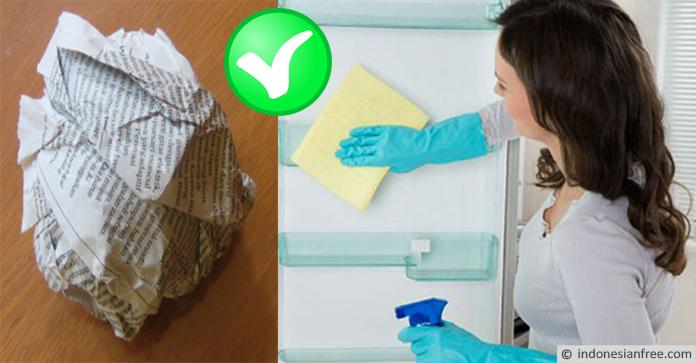 cara menghilangkan bau busuk pada kulkas