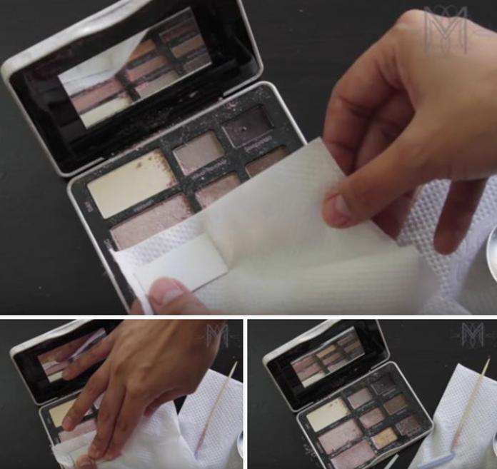 memperbaiki make up yang rusak