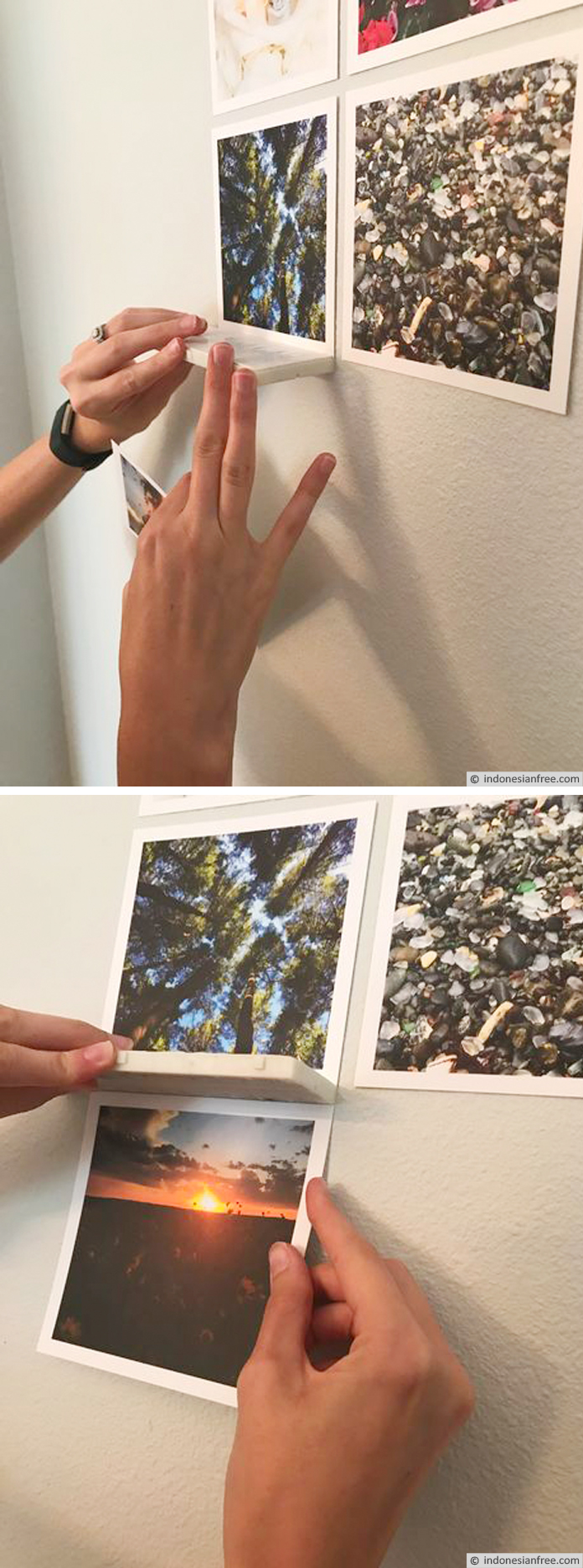 menghias dinding dengan foto