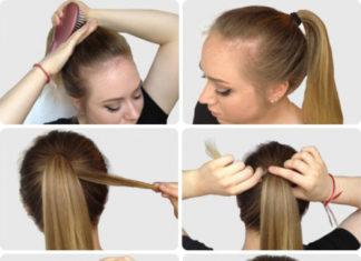 cara mengikat rambut sederhana sendiri