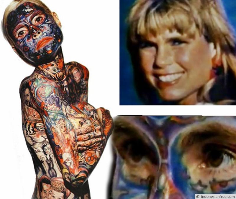 wanita paling banyak tato