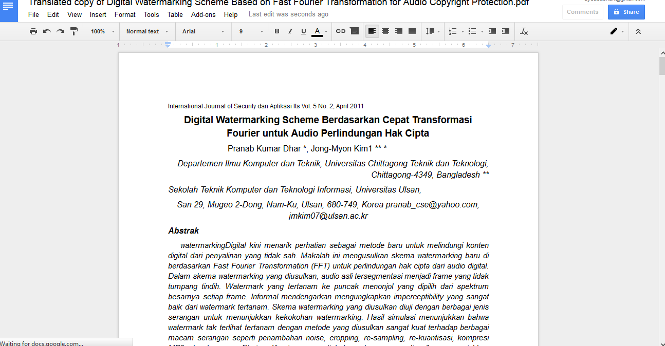 Cara Translate Dokumen dengan google drive